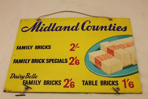 Midland Counties Dairy Belle Ad Card