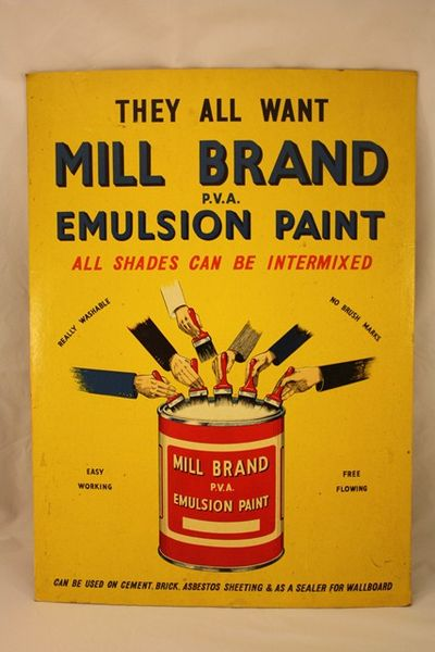Mill Brand Emulsion Paint Ad Card