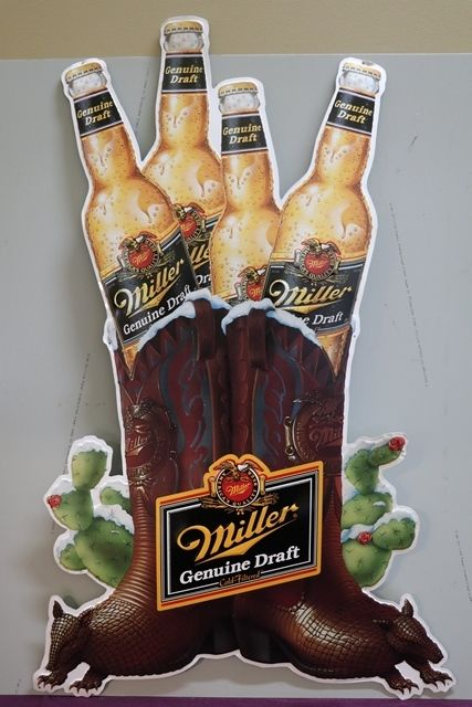 Miller Brewing Tin Advertising Sign