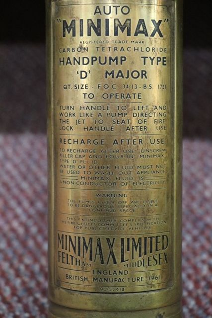 Minimax Hand Pump Fire Extinguisher
