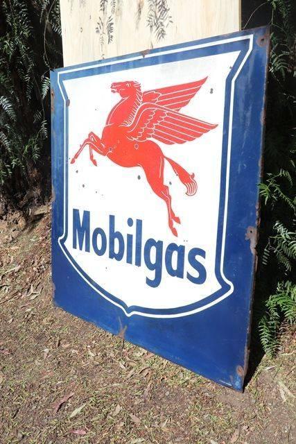 Mobilgas Enamel Advertising Sign