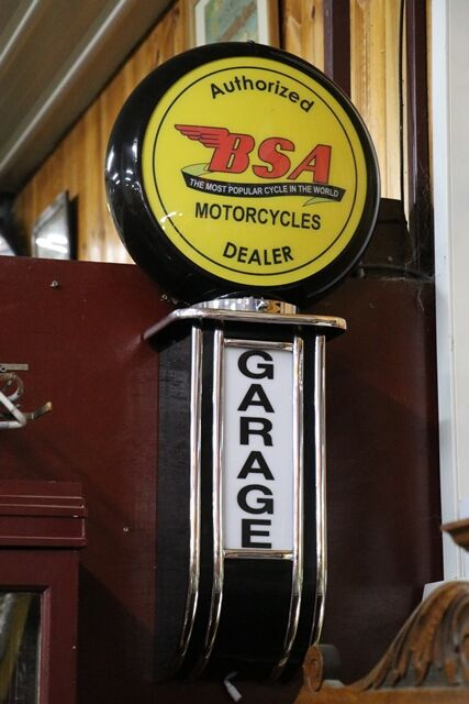 Modern Authorised BSA Motorcycle Dealer Garage Lightbox