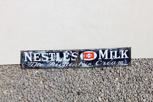 Nestle Milk Enamel Strip Sign