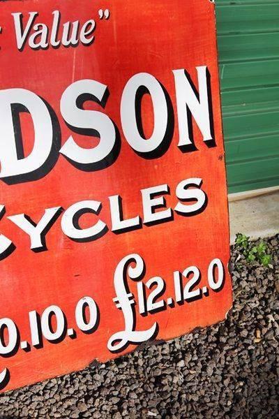 New Hudson Cycles Enamel Sign