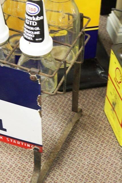 Original Esso Extra Motor Oil 10 Bottle Oil Rack