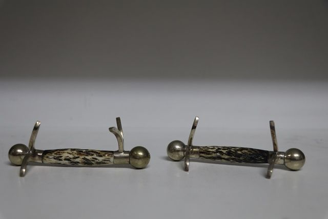 Pair of 19th Century Horn Knife Rests