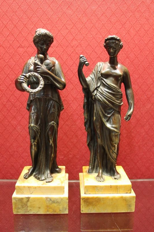 Pair of Classical Bronze Figures