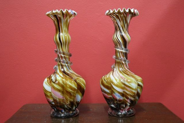 Pair of Edwardian Glass Vases