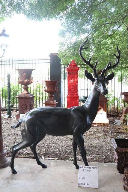 Pair of Quality Bronze Deer Garden Figures