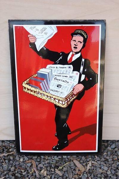 Paperboy Pictorial Enamel Sign