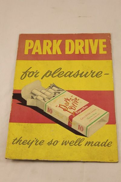 Park Drive For Pleasure Ad Card