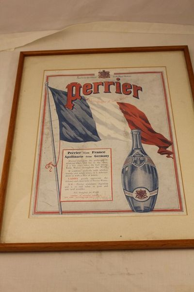Perrier Table Waters Framed Shop Card