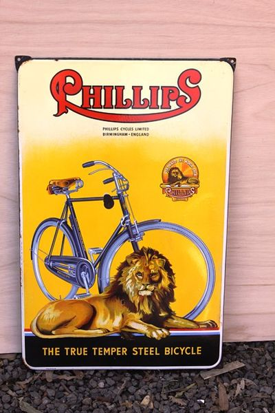 Phillips Cycles Pictorial Enamel Sign