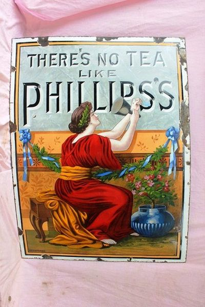 Phillipss Tea Enamel Sign