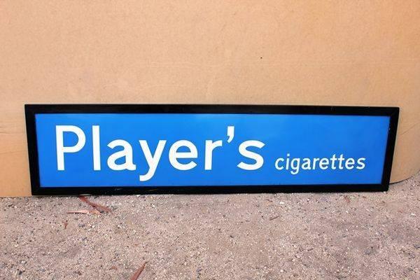 Players Ciagrettes Enamel Sign