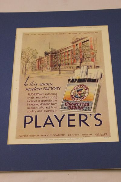 Players Medium Navy Cut Ad Card