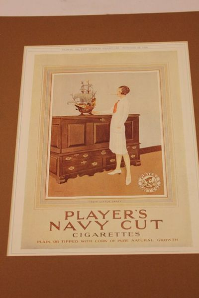 Players Navy Cut Ad Card