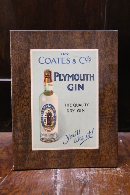Plymouth Gin Coates and Co Card Advertising
