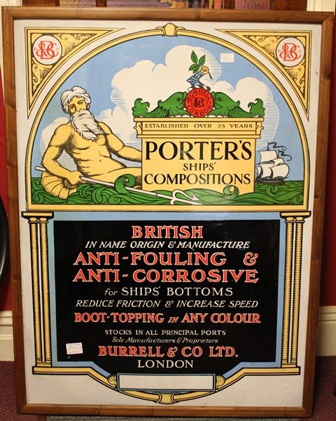 Porters Ships Compositions Antique Sign