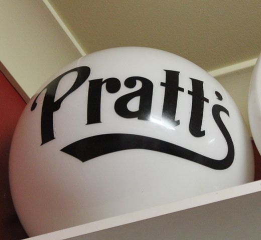 Pratts Reproduction Ball Type Glass Globe