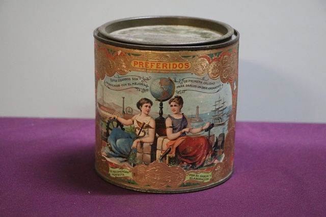 Preferidos Belgium Cigars Pictorial Tin