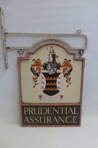 Prudential Assurance Double Sided Enamel Sign