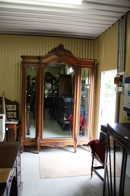 Quality Antique 3 Door French Armoir