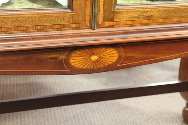 Quality Late 19th Century Inlaid Mahogany Bookcase C1895