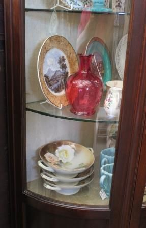 Quality Late Victorian HalfRound Display Cabinet