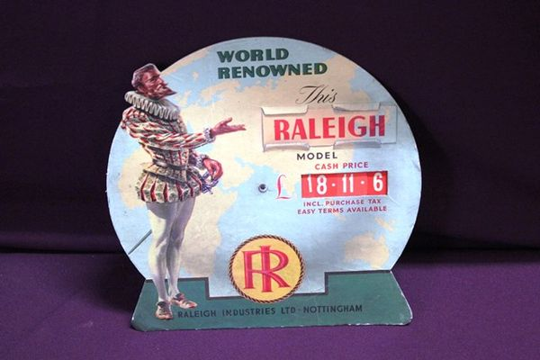 Raleigh Advertising Display Card