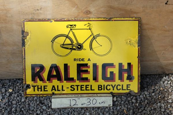 Raliegh Cycles Enamel Sign