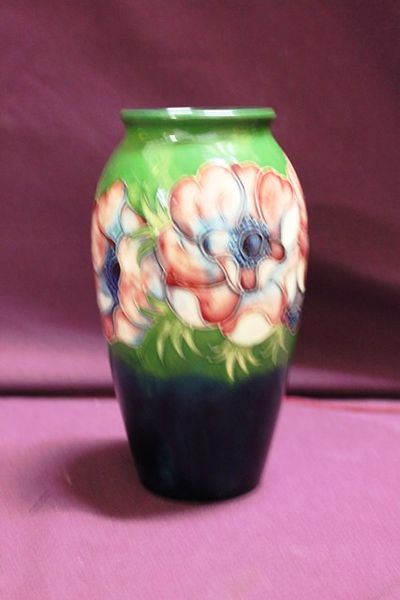 Rare And Early Moorcroft Anemone Vase C194753 By Walter Moorcroft