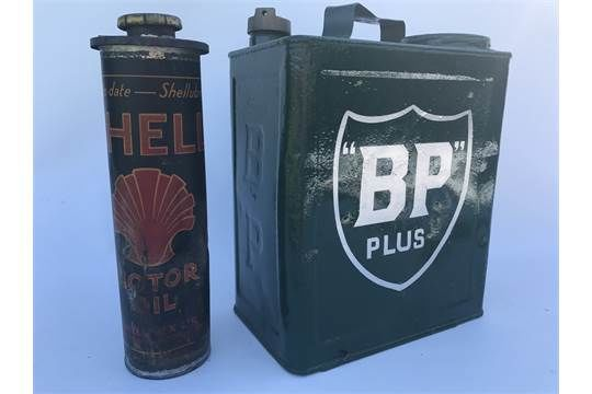 Rare BP and Shell Duo Fuel Can
