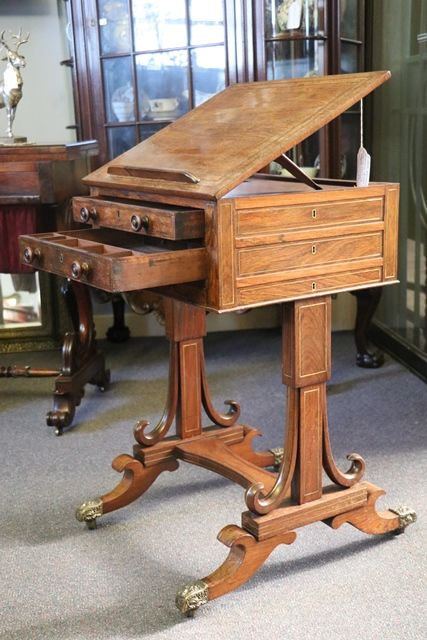 Rare Rosewood Regency Writing Table