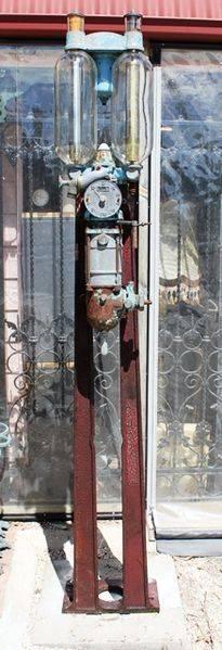 Rare Satam Effiel Tower Manual Petrol Pump For Restoration