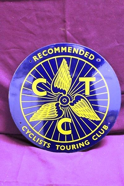 Recommended Cyclists Touring Club Enamel Sign
