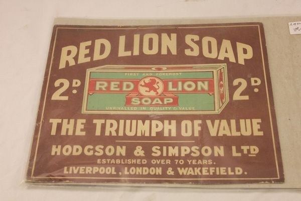 Red Lion Soup Shop Ad Card
