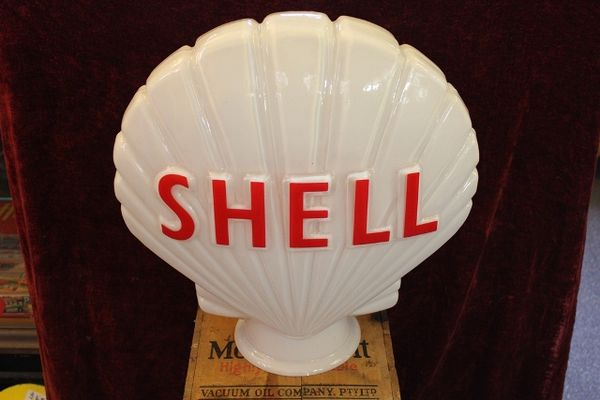 Reproduction Glass Shell Clam Globe