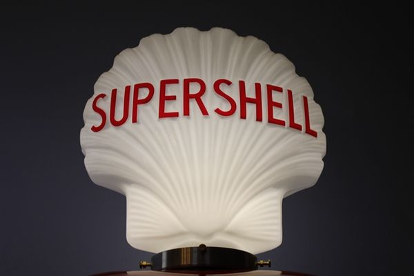 Reproduction Glass Super Shell Globe