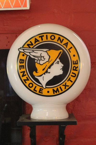 Reproduction National Benzol Pill Type Globe