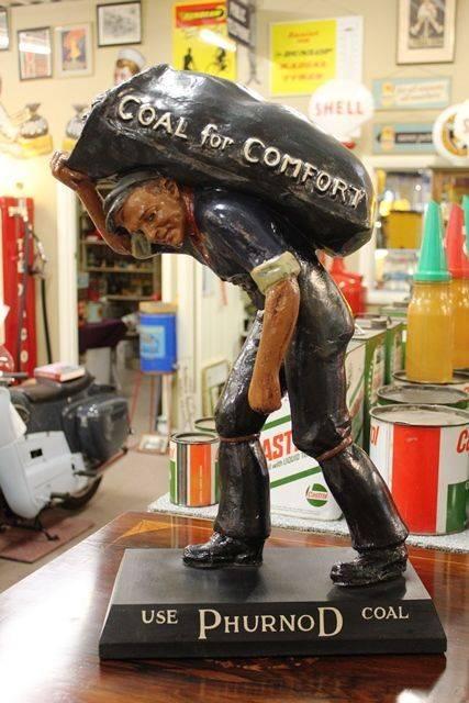 Restored Antique Phurnod Coal Advertising Figure
