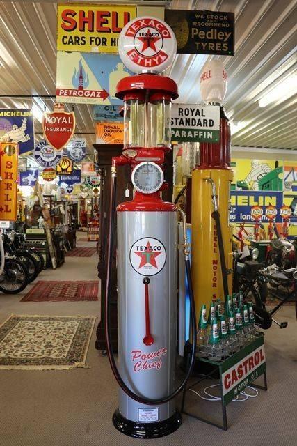 Restored Twin Cylinder andquotBoutillonandquot Manual Petrol Pump