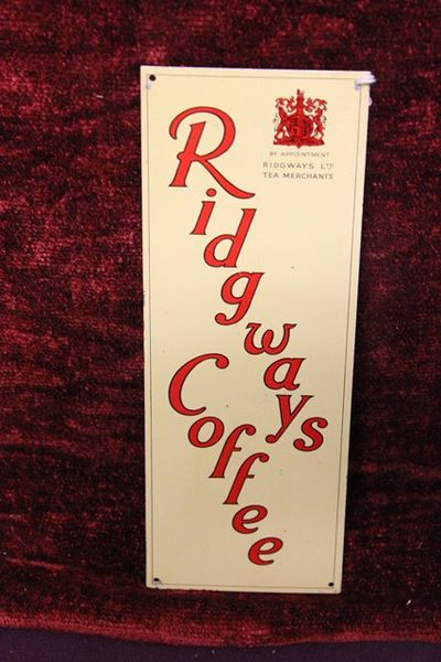 Ridgeways Coffee Tin Sign
