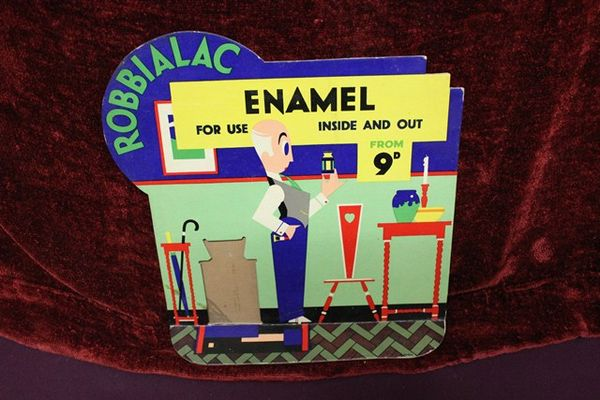 Robbialac Enamel Shop Display Card