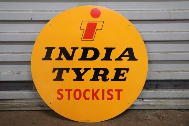 Round India Tyre Stockist Advertising Sign