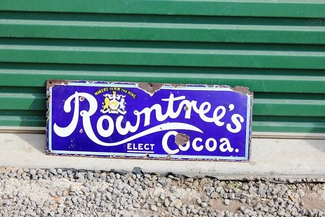 Rowntrees Cocoa Enamel Advertising Sign