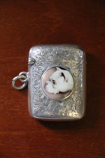 S Silver Vesta Case Birmingham 1924
