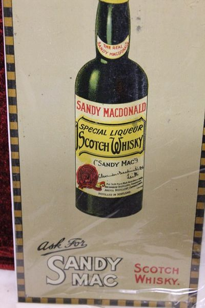 Sandy Mac Tin Advertising Sign