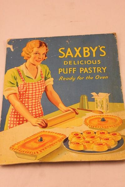 Saxbys Puff Pastry Ad Card