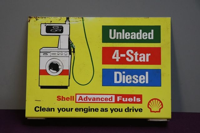 Shell Advanced Fuels Double Sided Petrol Station Wall Mount Sign